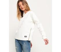 Kastenförmiges 3D Sweatshirt weiß