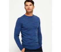 Orange Label Pullover mit Rundhalsausschnitt blau