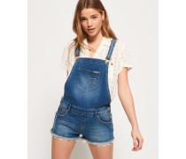 Hot Short Jeanslatzhose blau