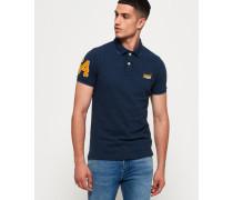 Klassisches Polohemd aus Pikee marineblau