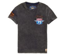 Custom Jeans-T-Shirt mit Tasche und Ziernaht