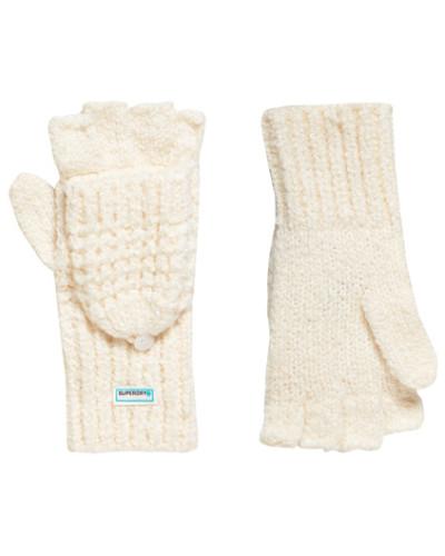 Fingerlose Clarrie Handschuhe mit Ziernaht creme