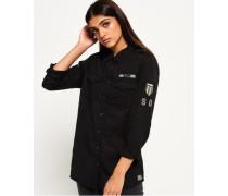 Hemd im Militär-Stil schwarz
