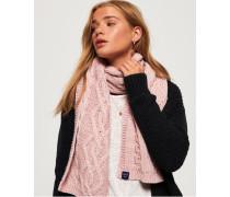 Arizona Schal mit Zopfmuster pink