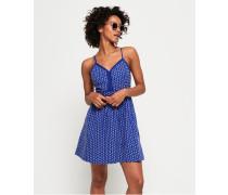 Jessie Trägerkleid mit V-Ausschnitt blau