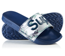 Pool Slider Sandalen marineblau