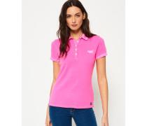 Polohemd aus Pikee pink