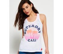 Sunset Cali Trägerhemd in Ausbrenneroptik weiß