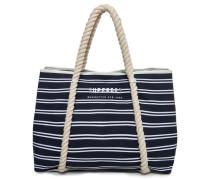Bayshore Strandtasche mit Streifen marineblau