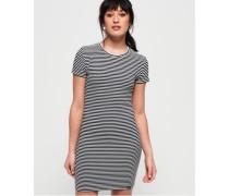 Evie T-Shirt-Kleid mit Struktur marineblau