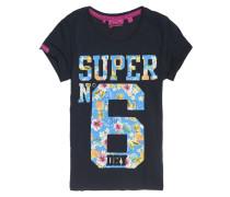 Super No.6 T-Shirt marineblau