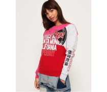 Skater Sweatshirt mit Farbblock-Design dunkelgrau