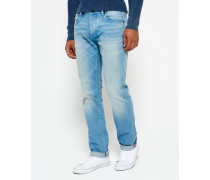 Officer Straight Jeans blau