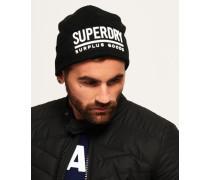 Surplus Goods Logo Beaniemütze schwarz