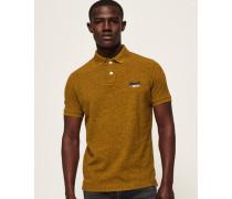Klassisches Polohemd aus Pikee gelb