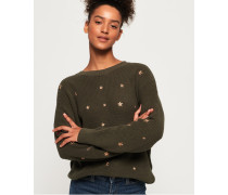 Star Cascade Pullover grün