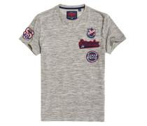T-Shirt mit Aufnäher grau
