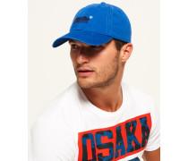 Orange Label Mütze blau
