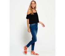 Mila Jegging-Jeans blau
