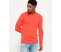 Rundhals-Sweatshirt aus Supima Baumwolle pink