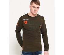 Upstate Rundhals-Sweatshirt mit Waschung grün