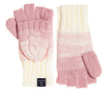 Fingerlose Clarrie Handschuhe mit Zopfmuster pink