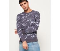 Premium Sweatshirt mit durchgehendem Print und Rundhalsausschnit