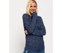 Croyde Pullover mit Zopfmuster blau