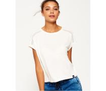 Lace T-Shirt mit Einsatz creme