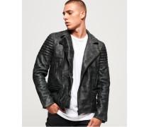 Premium Classic Lederjacke schwarz