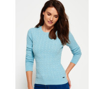 Summer Luxe Mini Cable Knit Pullover grün