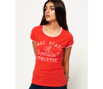 State Athletic Ringer T-Shirt rot