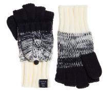 Fingerlose Clarrie Handschuhe mit Zopfmuster blau