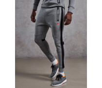 Gestreifte Gym Tech Jogginghose hellgrau