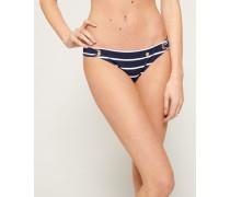 Picot Bikinihöschen mit Struktur blau