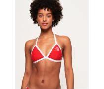 Dreifarbiges Tri Bikinitop rot