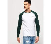 Langärmeliges Orange Label Baseball T-Shirt weiß