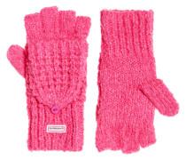 Fingerlose Clarrie Handschuhe mit Ziernaht pink