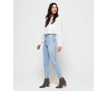 Schmal geschnittene Ruby Jeans blau