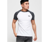 Orange Label Baseball T-Shirt weiß