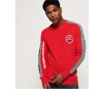 Dreifarbiges Trophy Sweatshirt rot