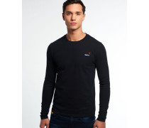 Vintage Embroidery Long Sleeve T-Shirt schwarz
