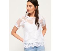 Savanna T-Shirt mit Spitze weiß