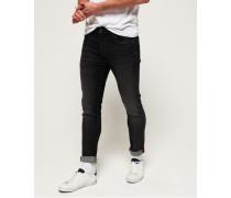 Schmal geschnittene Tyler Comfort Jeans schwarz