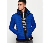 Fuji Jacke mit Doppelreißverschluss blau