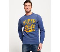 Upstate Rundhals-Sweatshirt mit Waschung blau