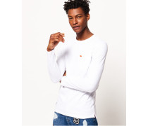 Dry Originals Langarm-T-Shirt mit Tasche weiß