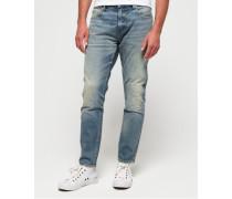 Schmal geschnittene Premium Jeans mit Webkante