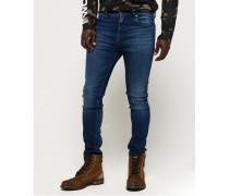 Schmal geschnittene Tyler Comfort Jeans blau