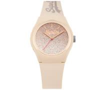 Urban Armbanduhr mit Farbverlauf und Glitzer weiß